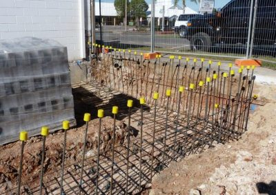 Framing for the retaining wall